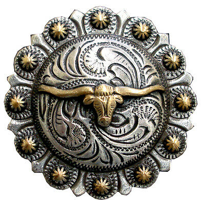 "Longhorn  Gold Berry Concho 1 1/2"" (38mm)"