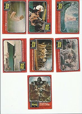 24 x SCANLENS 1976 KING KONG TRADING CARDS