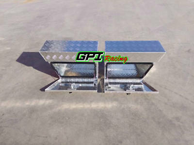 "Pair Aluminium Undertray Under Tray Underbody Ute Tool Box toolbox 24""x10""x16"""
