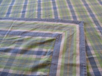 Vintage look PLAID Tablecloth SHABBY Cottage French Country CHIC COTTON fabric