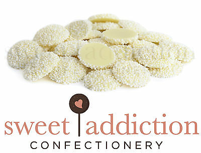 4.5kg White Speckles on Chocolate - Bulk Wedding Candy Buffet Freckles Jewels