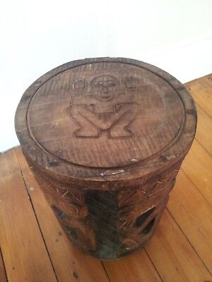 Vintage Tribal Carved stool stand