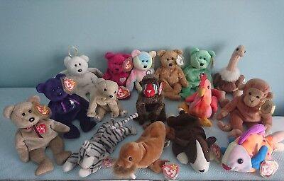 Ty Beanie Babies - collection of 16 retired Beanies