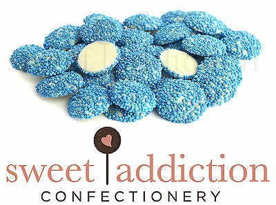 3kg Blue Speckles on White Chocolate - Bulk Party Lolly Candy Buffet Freckles