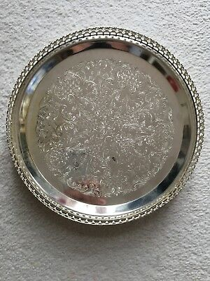 pewter plate, 9 inc across