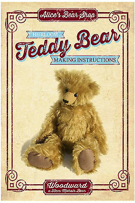 Sewing a Teddy Bear - Pattern & Instructions Booklet  - Woodward - 33cm