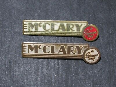 """PAIR OF McCLARY VINTAGE ART DECO STYLE FURNACE EMBLEMS """"SINCE 1847"""""""