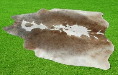 """New Cowhide Rugs Area Cow Skin Leather 24.83 sq.feet (65""""x55"""") Cow hide P-160"""