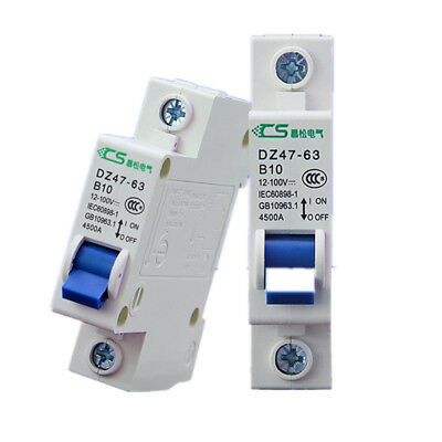1P 2P DC Circuit breaker DZ47-63 DC B1-63A DC12-100V for DC battery protection