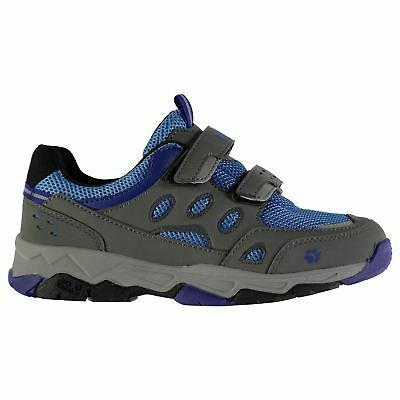 Jack Wolfskin Kids Attack 2 Low Walking Hook And Loop Panelled Outdoor Shoes