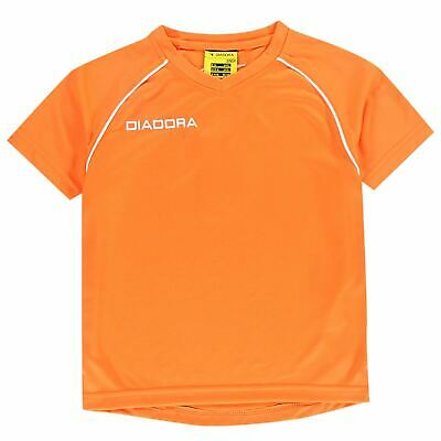 Diadora Kids Boys Madrid T Shirt Junior Baselayer Top Tee Short Sleeve V Neck