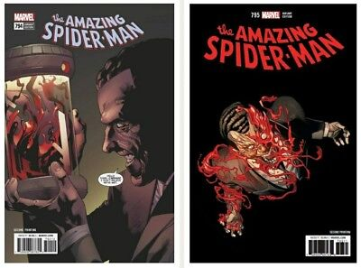 Amazing Spider-Man #794 & #795 2nd Print Variants Marvel 3/14 Carnage Red Goblin