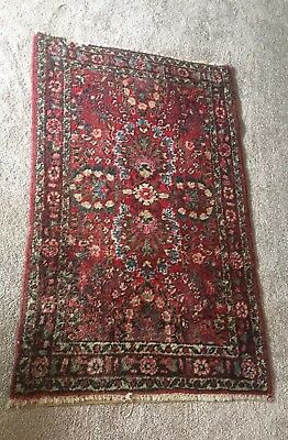 """Hand Knotted Antique Hamadan Persian Oriental Rug- 50"""" X 30"""""""