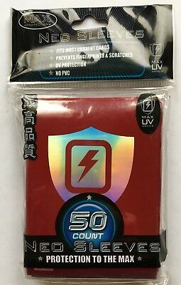 MAX PROTECTION NEO CARD SLEEVES 50 pochettes protege cartes RED SHIELD
