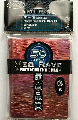 MAX PROTECTION NEO CARD SLEEVES 50 pochettes protege cartes FOIL LIGHT RED