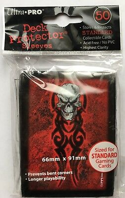 ULTRA PRO PROTECTOR CARD SLEEVES 50 pochettes protege cartes TRIBAL SKULL RED