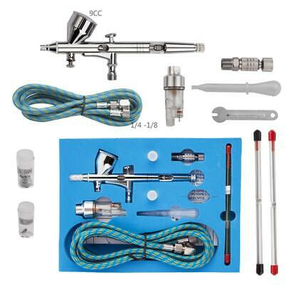 Dual Action Airbrush Kit Needle Spray Gun Paint Art Craft Tattoo Air Brush Set@
