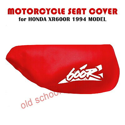 HONDA XR600R XR 600 R 1994 MODEL MOTORCYCLE SEAT COVER IN RED with WHITE LOGO