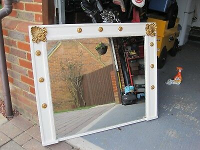 Large Victorian mantle mirror with decorative mouldings c1860