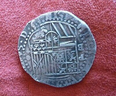 SPANISH COLONIAL SILVER COIN- Weighs One Ounce- Shipwreck Coin?