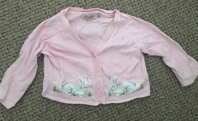 Cath Kidston Baby Bunny Pink Cardigan Size 6-12 Months