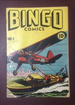 Bingo Comics Nº1 L.b.cole Howard Publication 1945 Comic Golden Age