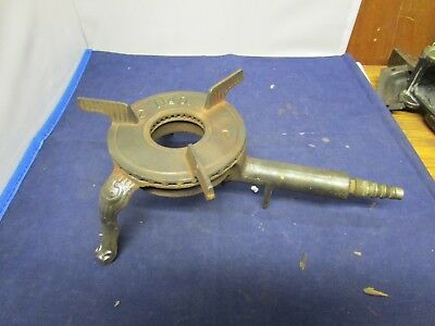 Vintage Small Cast Iron Burner #0 With Ornate Legs