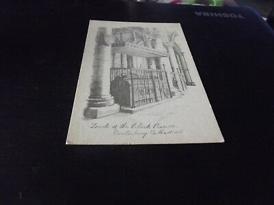 Postcard of the drawing of The Tomb of the Black Prince Canterbury Cathedral