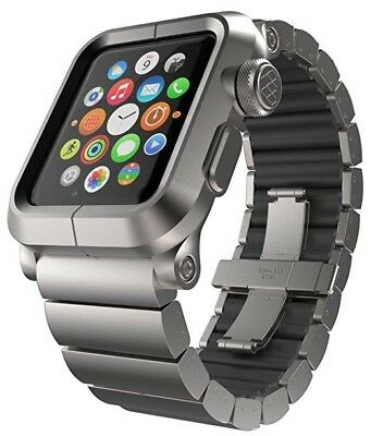 LUNATIK EPIK Link Silver Aluminum Case Bracelet Strap Apple Watch 42MM Series 1