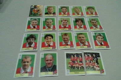 Lot Images Panini Euro 2000 Equipe Complete Norvège