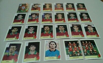 Lot Images Panini Euro 2000 Equipe Complete Portugal