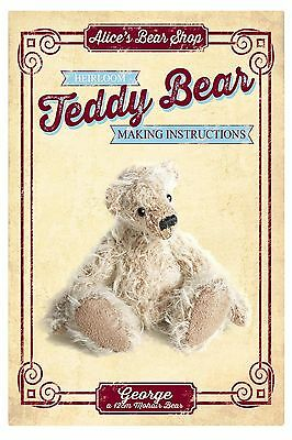 Sewing a Teddy Bear - Pattern & Instructions booklet - George - 12cm when made