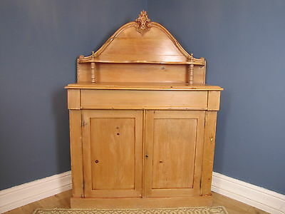 Antique French Stripped Pine Sideboard Chiffonier Cupboard & Drawer C.1880