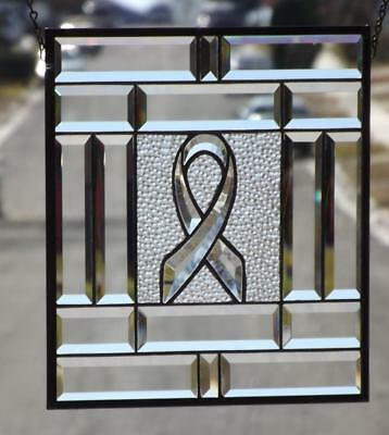 """HOPE""Beveled Stained Glass Window Panel • 15 ½""x15 ½"" (39x39cm)"