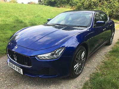 Maserati Ghibli 3.0 V6 D 275 Auto 2014 64 in Blue Emozione with Black Leather