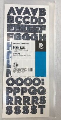 NEW in Pkg Creative Memories Denim Blues ABC/123 Stickers- 3 sheets