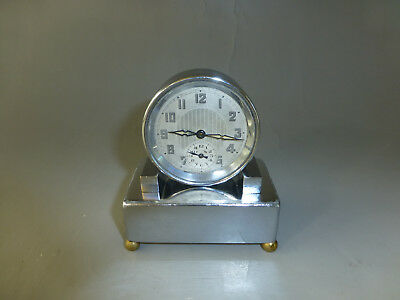 Rare Antique/vintage French Musical Alarm Clock Music Box Mechanical Wind Up