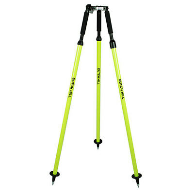 Dutch Hill Aluminum Tripod Flo Yel, GPS rods, Thumb Release. SECO Comparable