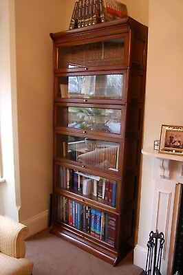 Stacking 6 sectional bookcase, Gunn, Minty, Globe Wernicke, Barristers, lawyers