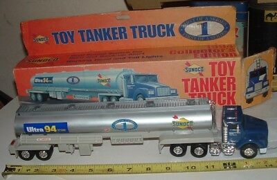 Sunoco Toy Tanker Truck 1994 * Nib * Box Rough * Official Fuel Of Nascar * Nice