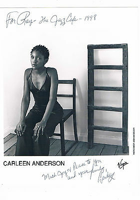 Carleen Anderson Soul Singer Hand Signed  Photograph 10 x 8 & Letter