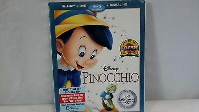 Disney Pinocchio Blu-ray + DVD + Digital HD Movie BRAND NEW  (123d)