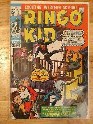 "Vintage ""ringo Kid"" Marvel Comic Book,  #7, Jan. 1971, Great Condition"