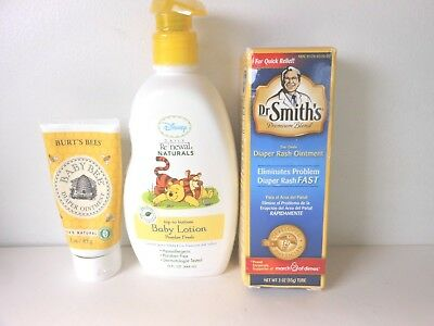 Burt's Bee Baby Bee Diaper Ointment, Dr Smith's Diaper Rash Ointment,baby Lotion