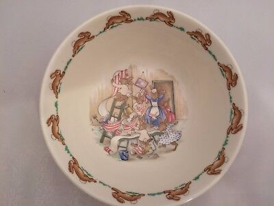 ROYAL DOULTON Bunnykins Cereal Bowl FAMILY HANGING WALLPAPER Bone China