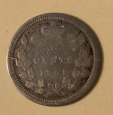 Canada 5 cents 1858, nice condition, low starting price (Lot DDG)