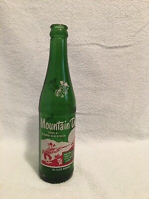 RARE 10oz MOUNTAIN DEW SODA BOTTLE FILLED BY BOMBER AND ROSCOE