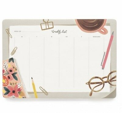 NEW IN PACKAGE Rifle Paper Co. Desktop Weekly Planner Desk Pad Mouse Pad