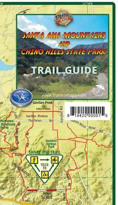 Santa Ana Mountains & Chino Hills State Park Trail Map Waterproof by Franko Maps