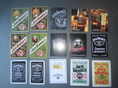 15 different JACK DANIELS Distillery collectable PLAYING CARDS singles